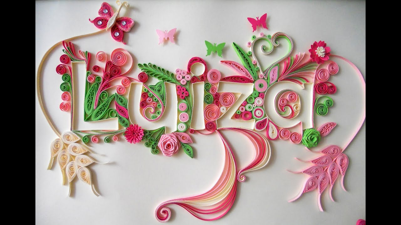 Papercraft Quilling Typography Tutorial