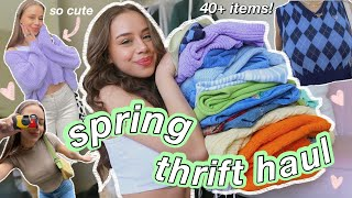 MASSIVE THRIFT HAUL! my dream spring/summer wardrobe (try on of course)