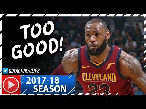 LeBron James Full Highlights vs Bucks (2017.10.20) - 24 Pts, 8 Ast!