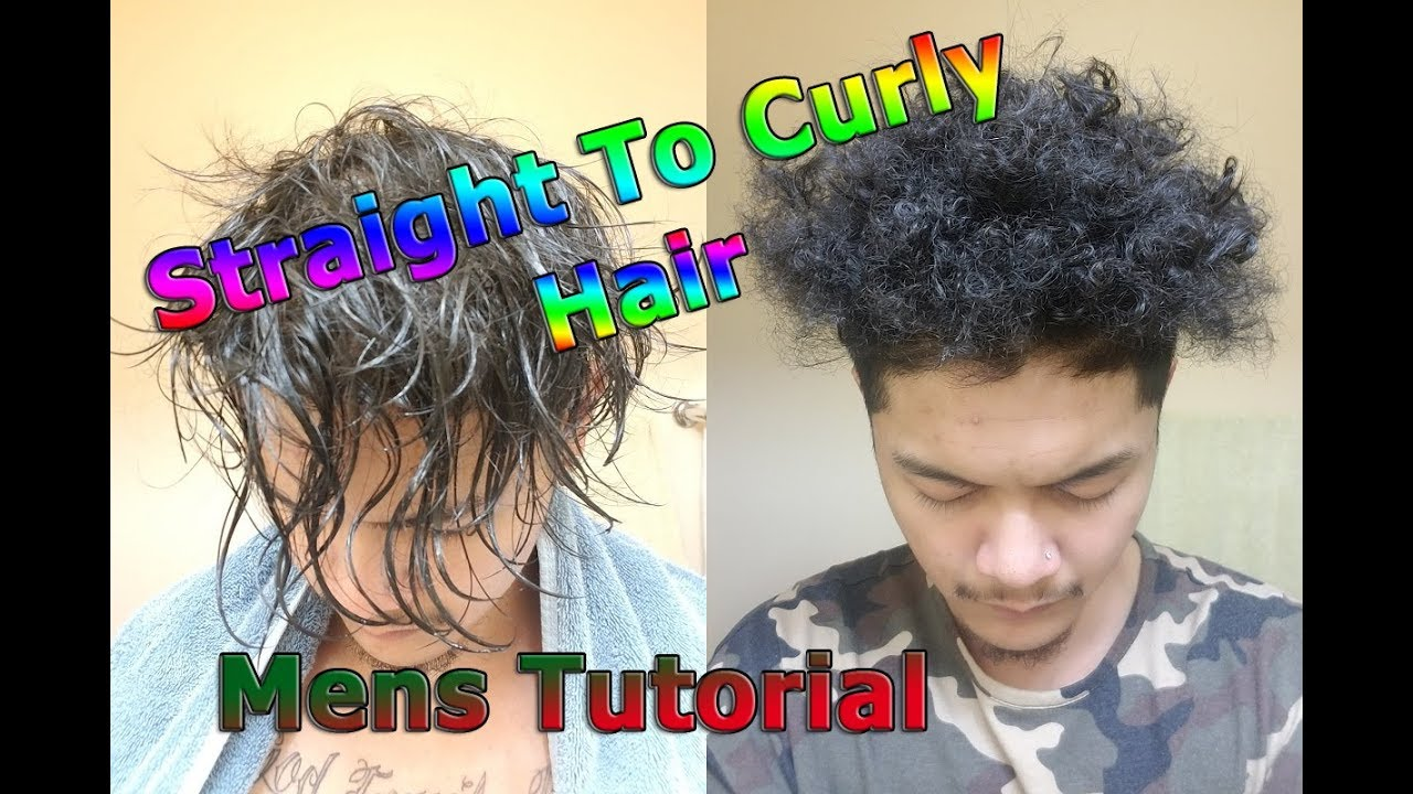 Asian Natural Straight To Curly Kinky Coily Hair Mens