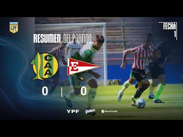 Copa Liga Profesional | Fecha 1 | Resumen de Aldosivi - Estudiantes