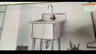 costco trinity stainless steel utility sink w faucet 249