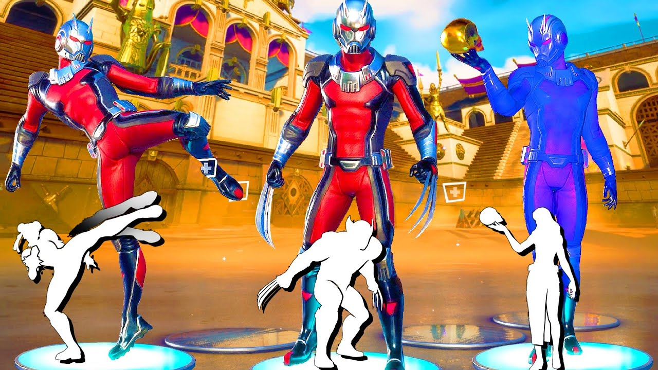 *NEW* Fortnite Ant-Man Skin doing All Built-In Dances and Emotes!.. 100% Synс!