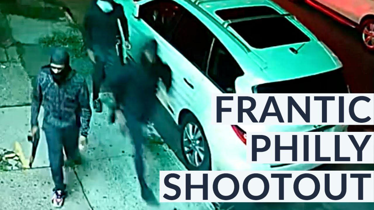 Wild gang shootout in Philly