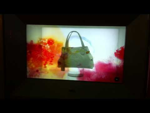 Vitrine interactive et public display