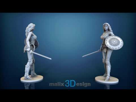 Wonder Woman - 3D Model for 3D Printing
