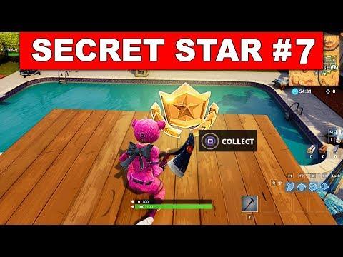 SECRET BATTLE STAR WEEK 7 SEASON 5 LOCATION! - Fortnite Battle Royale (Road Trip Challenges)