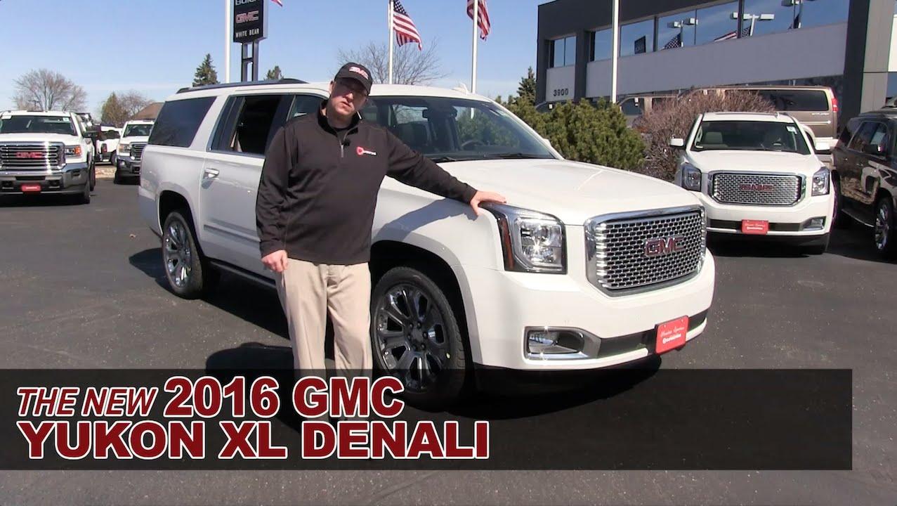 The New 2016 Gmc Yukon Xl Denali White Bear Lake St Paul Roseville Mpls Hastings Mn You