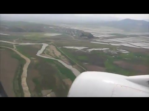 Landing in North Korean airport
