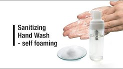 Sanitizing hand wash – self-foaming – DIY make at home