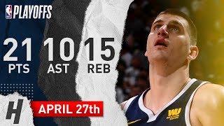 Nikola Jokic Full Game 7 Highlights Nuggets vs Spurs 2019 NBA Playoffs - 21 Pts, 10 Ast, 15 Reb!