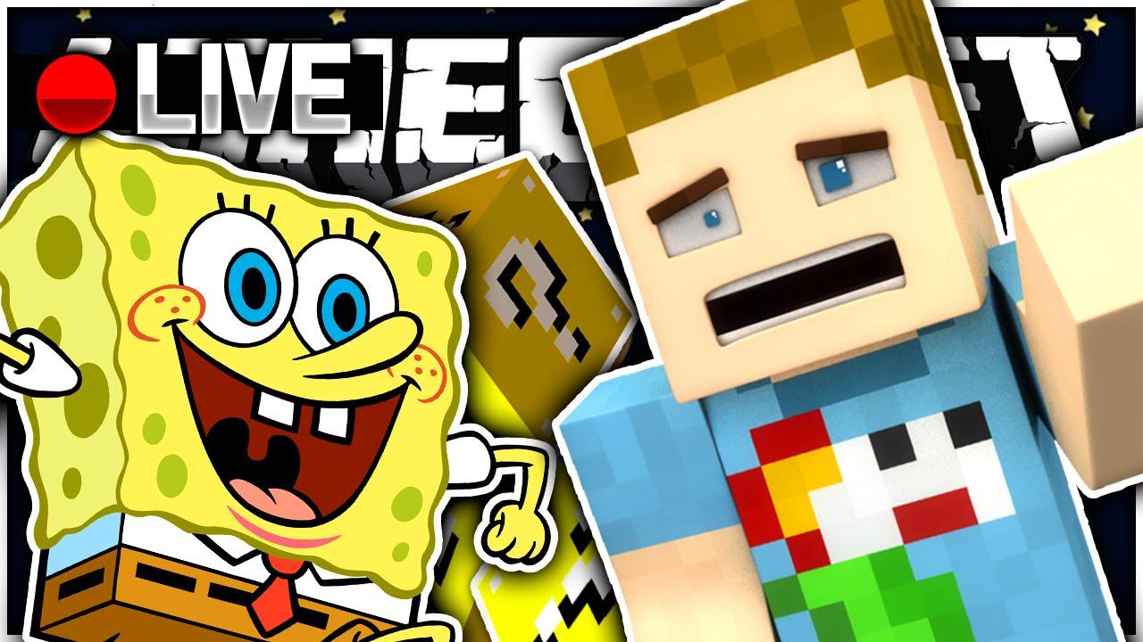 minecraft spongebob space lucky block challenge youtube