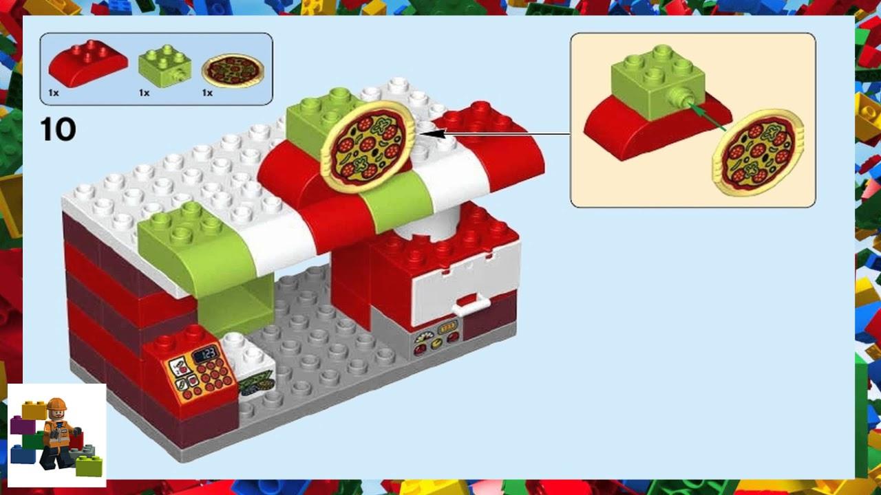 Lego Instructions Duplo 10834 Pizzeria Youtube