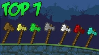 Top 7: Minecraft Axes in Bad Piggies
