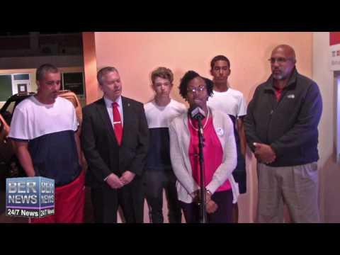 Bermuda Tennis Team Return Home, April 3 2017
