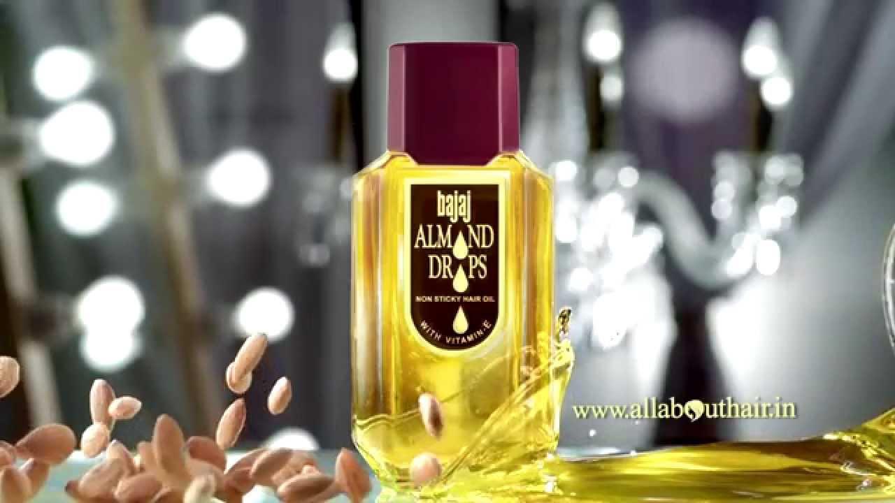 Bajaj Almond Drops Hair Oil Golden Drops Ad YouTube