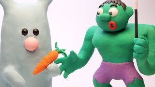 Magic Hulk 💕Superhero Play Doh Stop motion videos