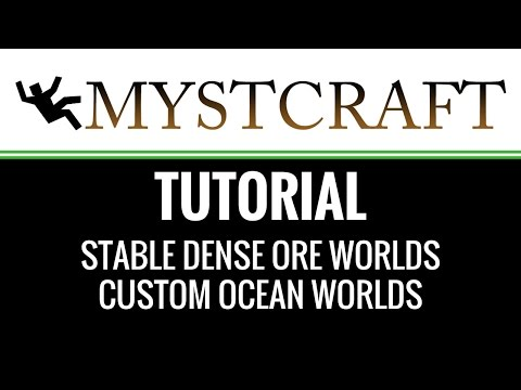 Mystcraft Tutorial - Stable Dense Ore Worlds and More!