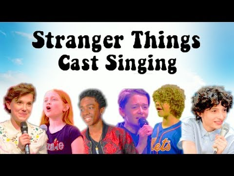 STRANGER THINGS KIDS SINGING COMPILATION!