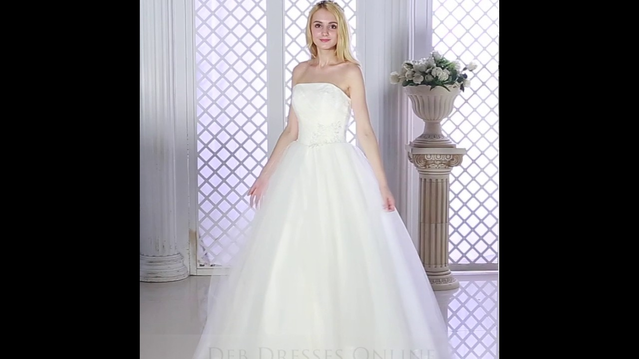 Princess Chic Simple Debutante Gown W1018D - YouTube