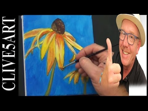 Easy Flower, Acrylic painting for beginners