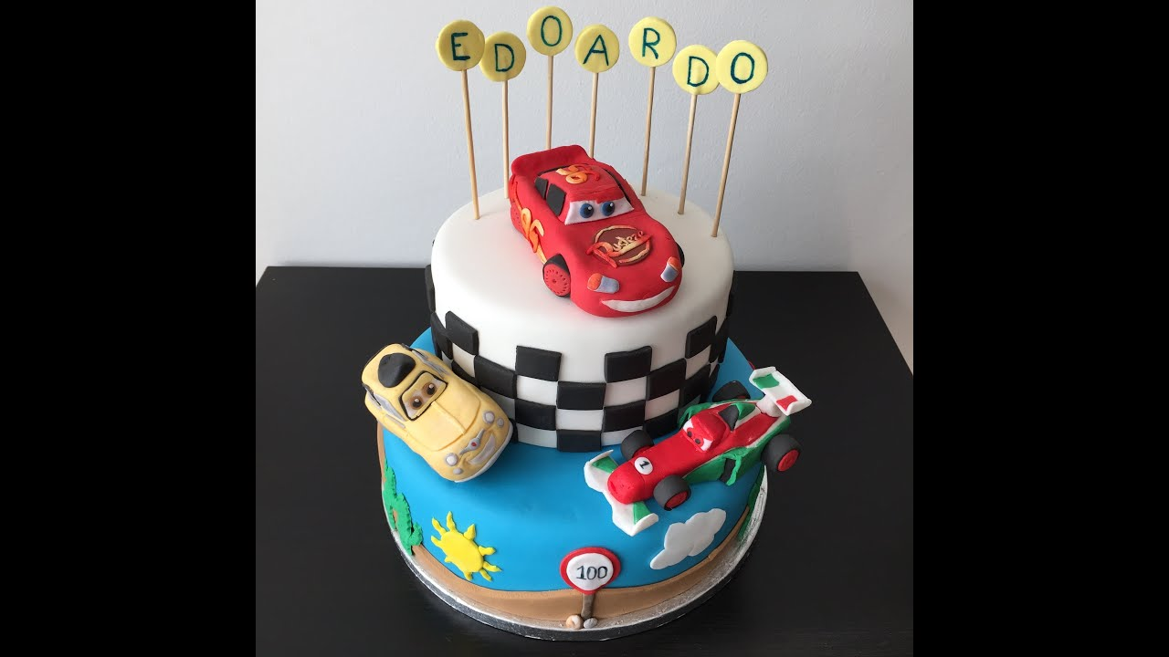 Cars Cake with lightning mcqueen luigi and francesco YouTube