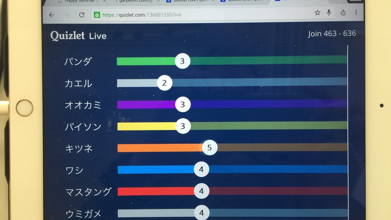 Quizlet live