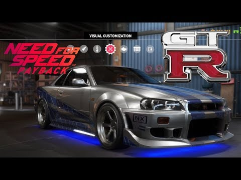 Need For Speed Payback - R34 Skyline GTR  - Vehicle Customization