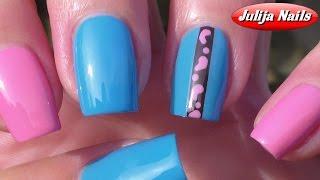 ▶ Маникюр с помощью дотса и ленты для дизайна ногтей