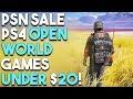 10 BIG OPEN WORLD PS4 Games UNDER $20! (PSN MID-YEAR SALE 2018)