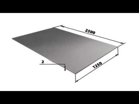 Размеры оцинкованного листа
