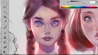 Coloring Tutorial - Purple Tint