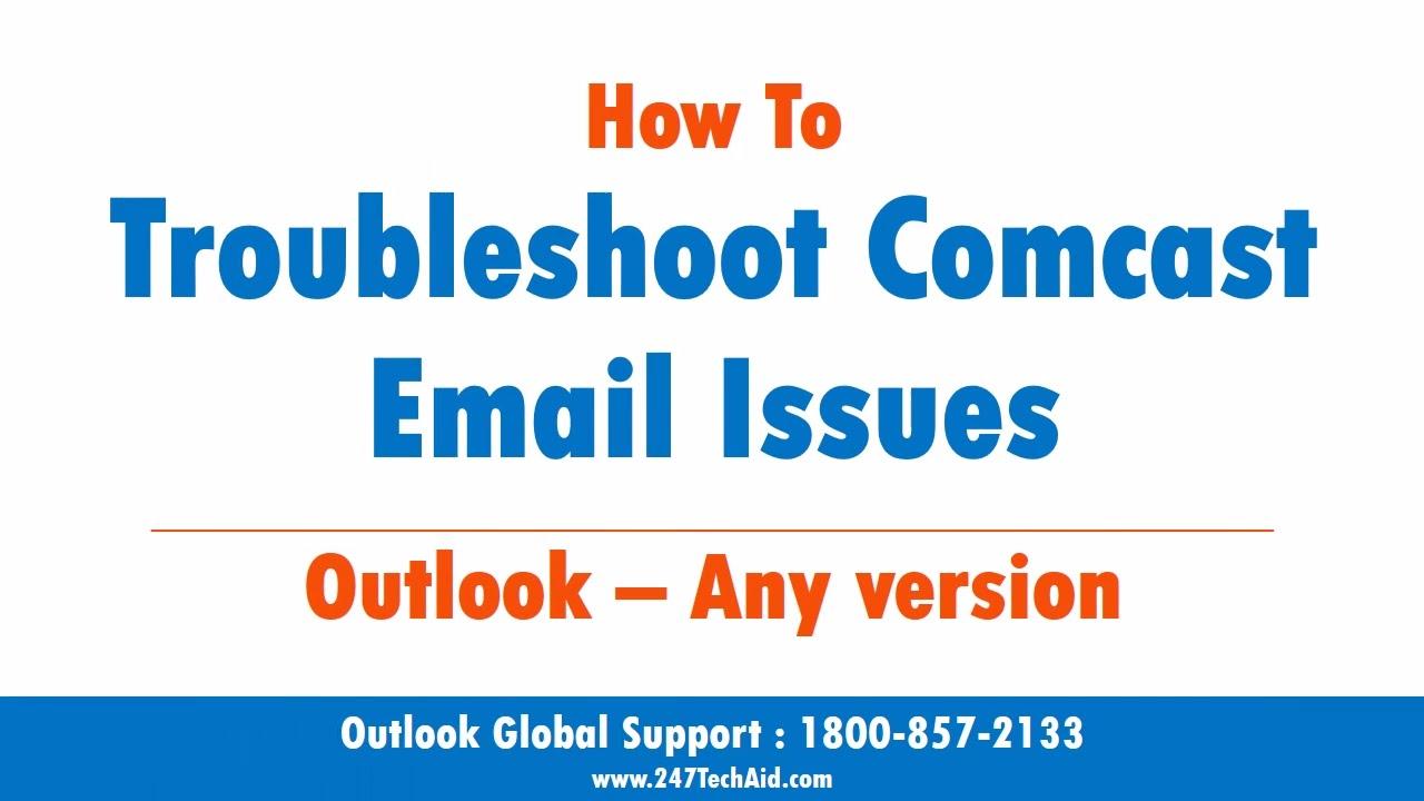 comcast email sending problem