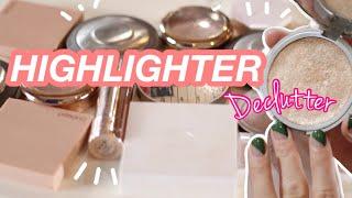 HIGHLIGHTER DECLUTTER 2020// Makeup I'm Getting Rid Of!