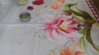 Pintura em Tecido – Aprenda Pintar Orquídeas