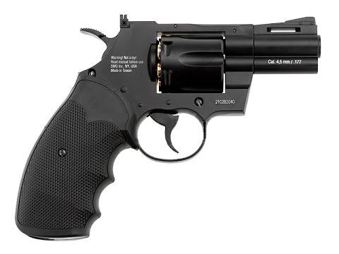 Пневматический револьвер Gletcher CLT B25 Кольт с подвижным барабаном обзор