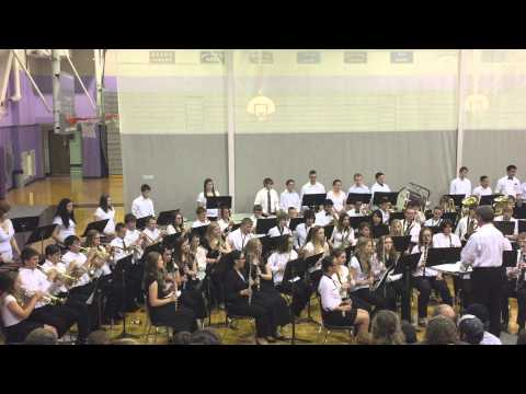 "Royal Valley High School band performs ""Up on the Housetop."""