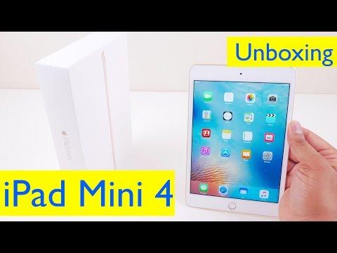 iPad Mini 4 Unboxing and Setup - 32GB Gold