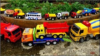 Car Toys Playing For Children | Construction Truck and Excavator For Kids