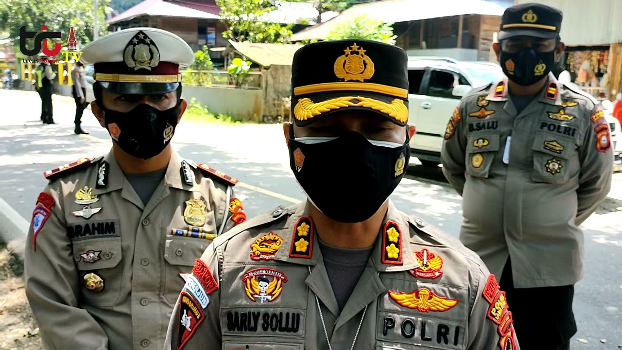 Pemeriksaan Kartu Vaksin Covid-1 di perbatasan Tana Toraja