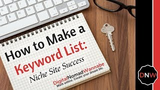 Follow my tutorial on how to make a keyword list for your niche site. i'll show you use keysearch create of keywords get site ...