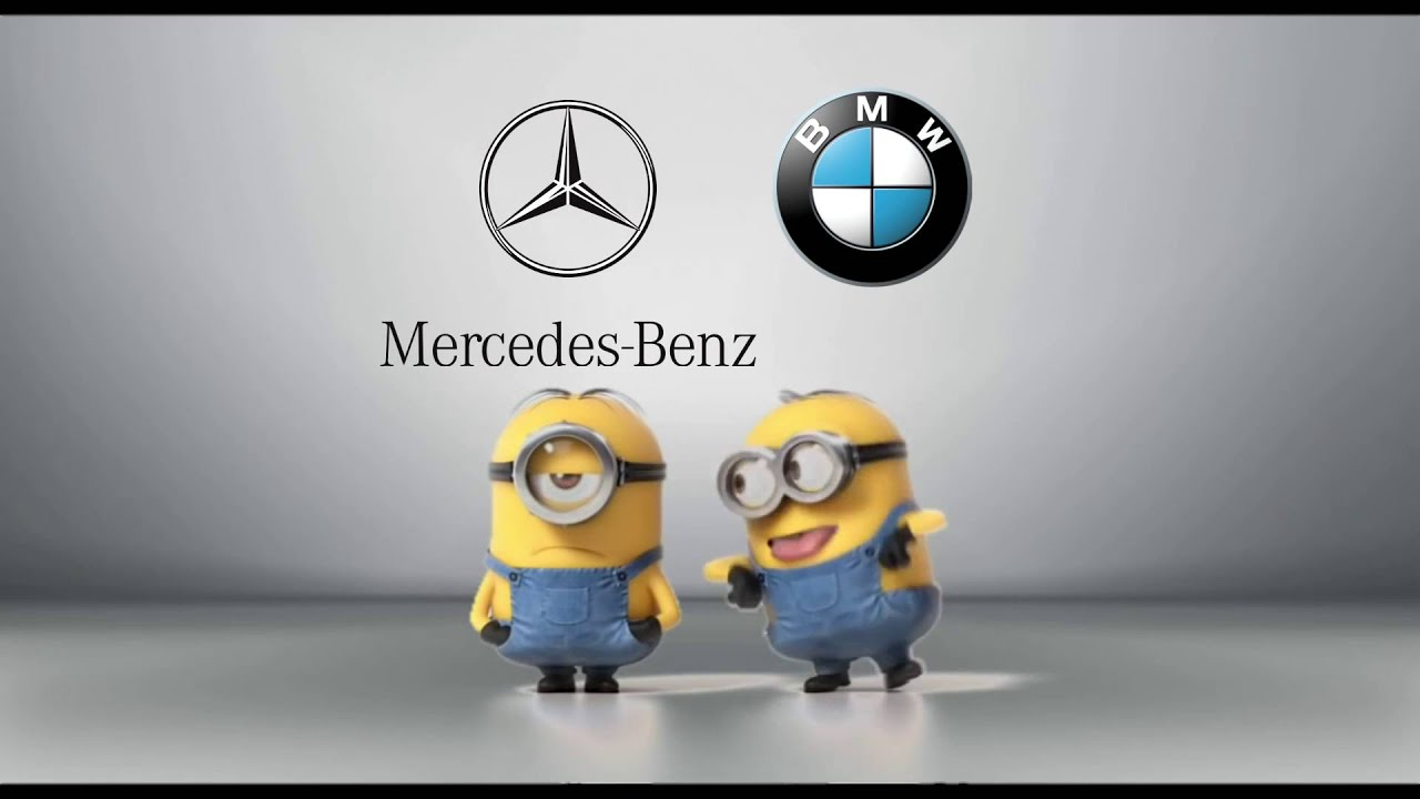 Mercedes Benz Vs Bmw Minions Style Youtube
