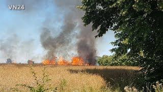 23.07.2019 - VN24-Lokal - Kornfeld in Flammen - Hitzewelle fordert Feuerwehr und Landwirte