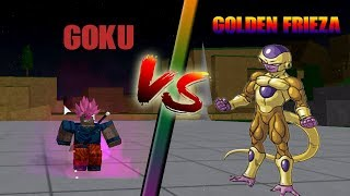 GOKU VS GOLDEN FRIEZA IN ROBLOX DRAGON BALL Z FINAL STAND