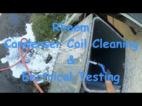 AC Maintenance Condenser Coil Cleaning and Electric Testing
