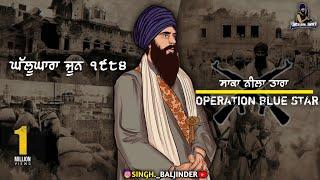 Operation Blue Star, Sant Jarnail Singh ji khalsa Bhindrawale - Bhai Mehal Singh jatha   Remix katha