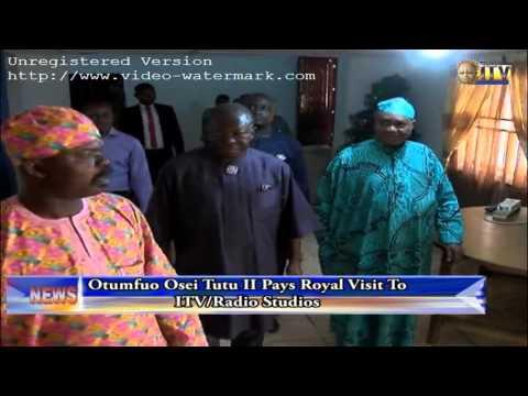 Otumfuo Osei Tutu II Pays Royal Visit To ITV/Radio Studios
