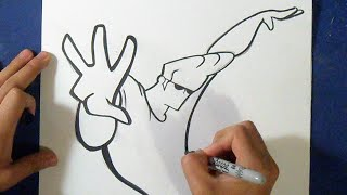 Cómo dibujar a johnny bravo | How to Draw johnny bravo
