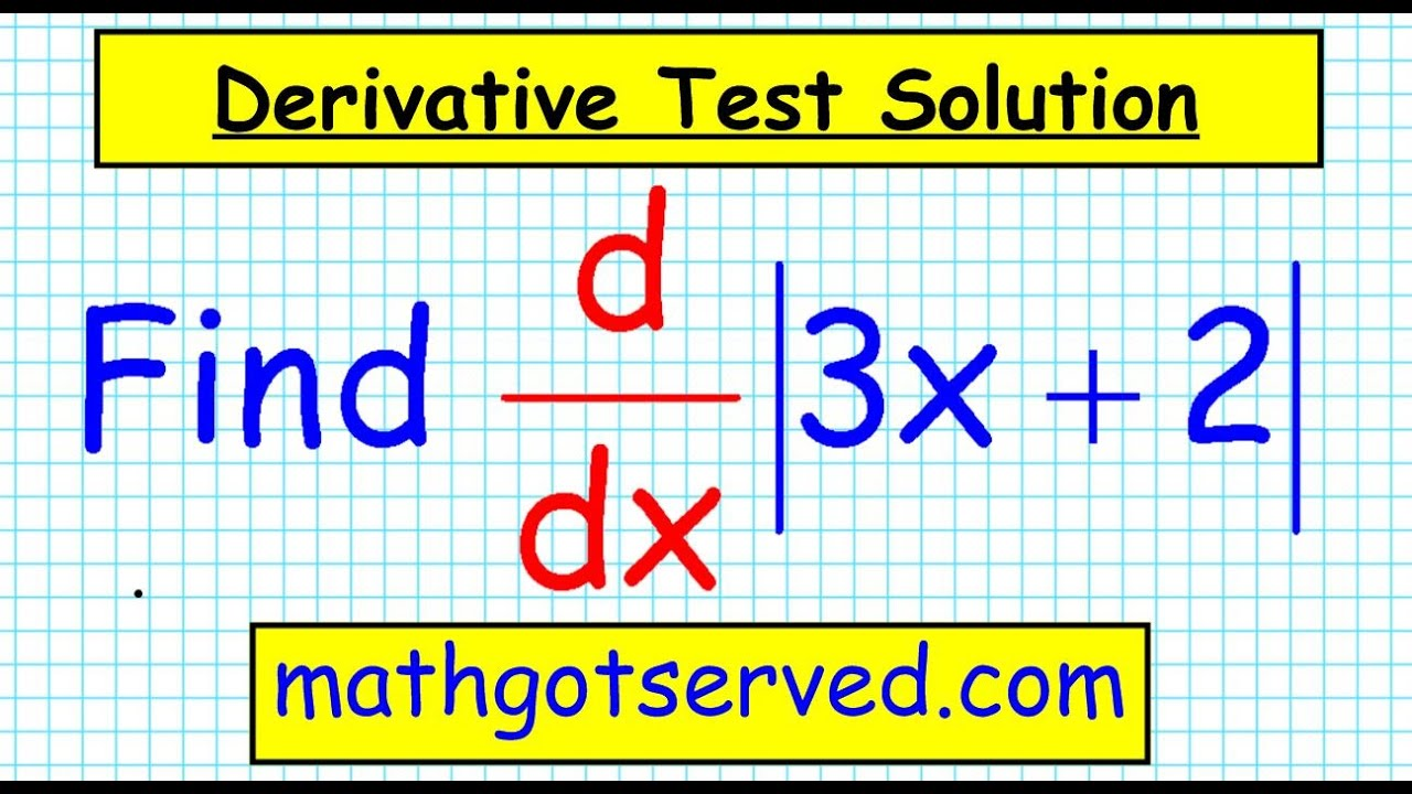 unit 3 test corrections 7 Derivative of absolute value functions ...