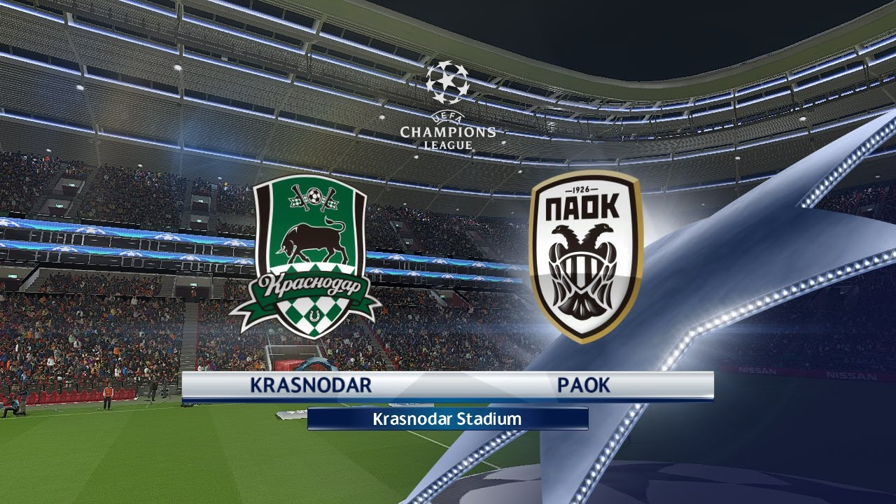 Uefa Chamipons League 20 21 Fk Krasnodar Vs Paok Salonica Live Youtube